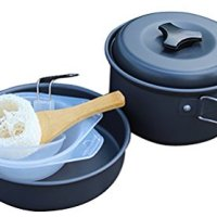 ChezMax Aluminium Outdoor Cooking Kit Camping Cookware and Pot Set for Camping / Backpacking / Hiking / BBQ/Picnic Camping Pot Set