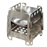 Docooler® Portable Stainless Steel Lightweight Folding Wood Stove Pocket Alcohol Stove Outdoor Cooking Camping Backpacking