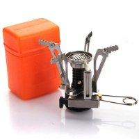 Icetek Sports Ultralight Backpacking Canister Camp Stove with Piezo Ignition, 3.9 oz