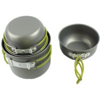 Picnic Camping Hiking Backpacking Pot Pan Cookware Outdoor Cooking Bowl