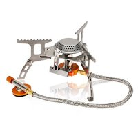 Lixada 3000W Camping Gas Stove Cooking Portable Foldable Split Burner Outdoor Hiking