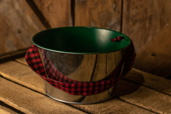 #39 Silver/Green/Red Dish