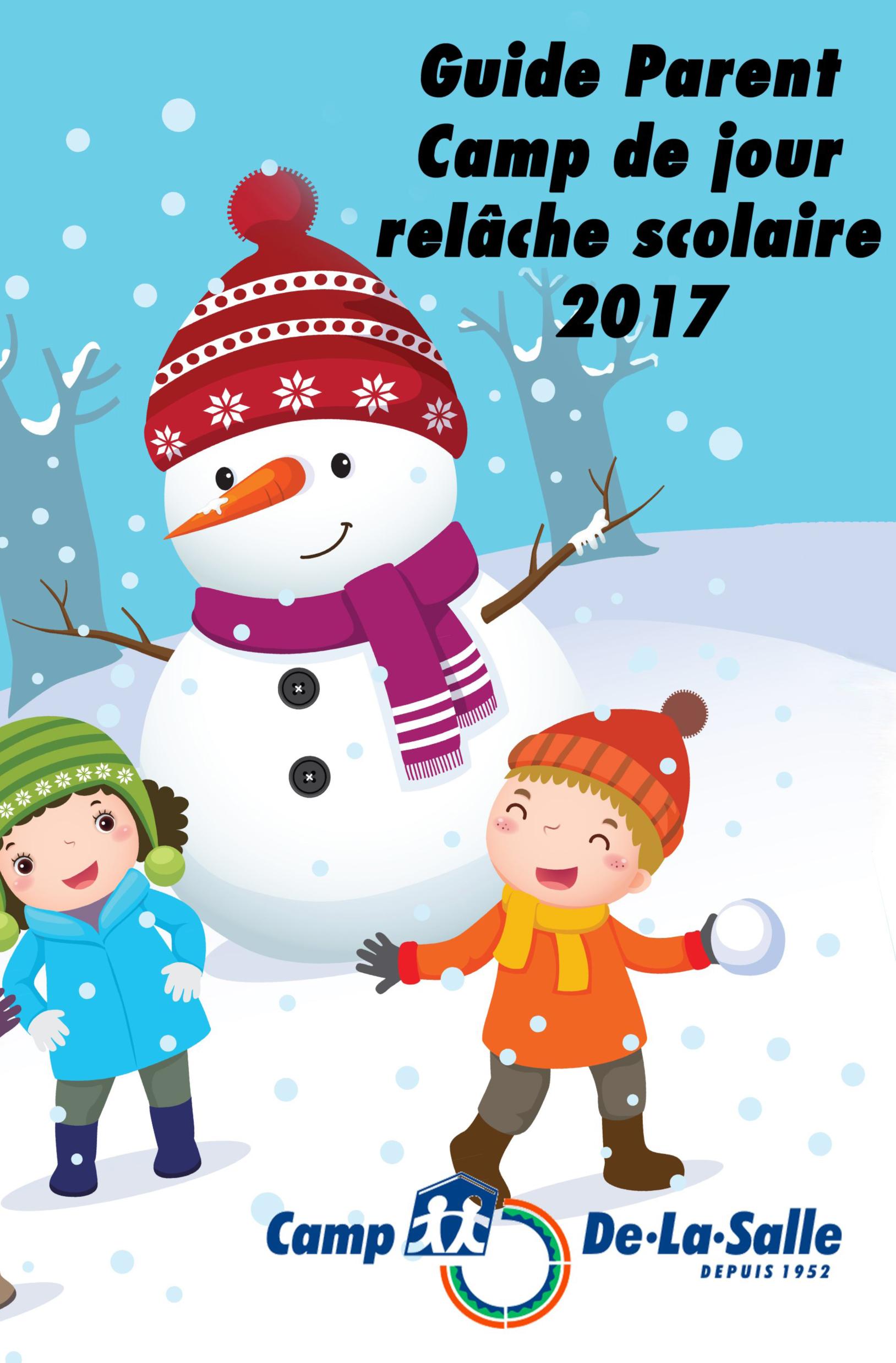petit guide pour les parents relache scolaire 2017
