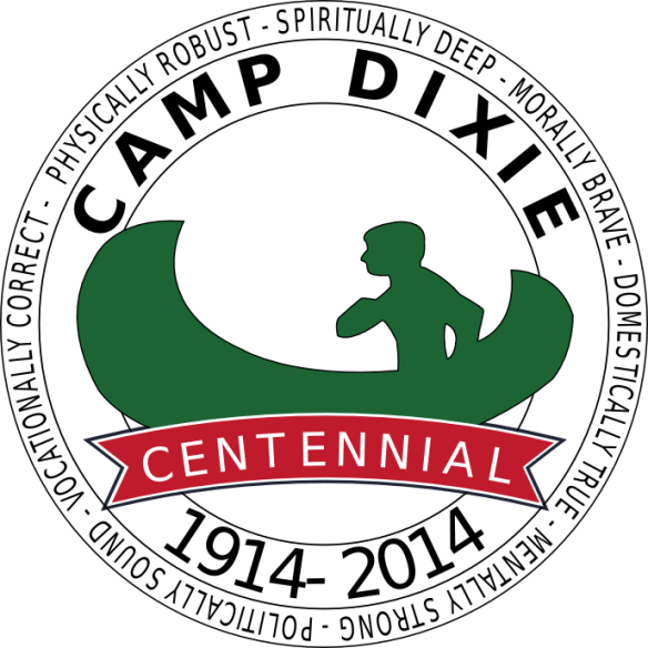 Camp Dixie Centennial Logo - Black text