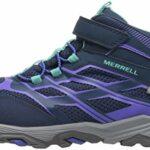 Merrell Ml-g Moab Fst Mid A/c Waterproof, Chaussures de Randonnée Hautes fille – Bleu (Navy), 30 EU (11 UK)