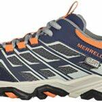 Merrell Moab FST Low WTRPF, Chaussures de Randonnée Basses Mixte, Bleu (Navy/Grey/Orange), 38 EU