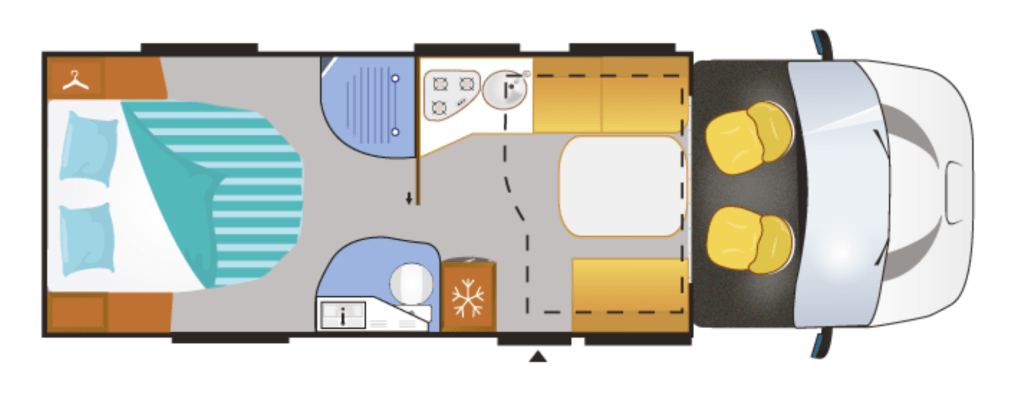 Layout camper Chausson 718 XLB special edition VIP te koop bij Campers Noord