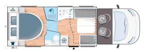 Layout indeling Chausson 768 premium vip campers noord