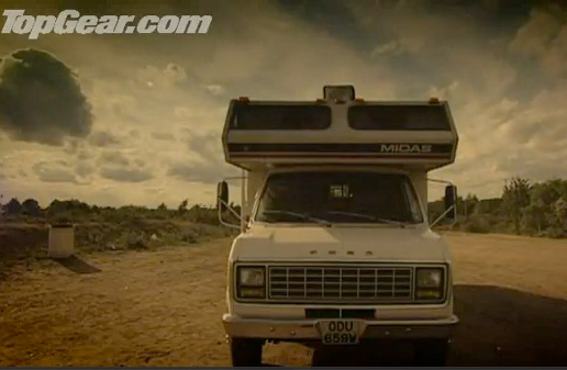 Camper racing by Top Gear