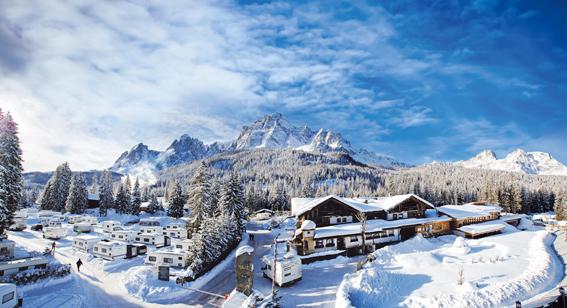 Ski opening al Caravan Park Sexten