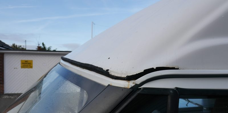 replacing a high roof motorhome campervan seal