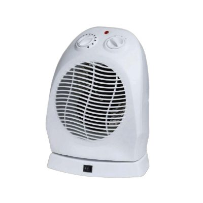 a small fan heater is ideal for your campervan or motorhome when plugged in to a campsites electric hook-up