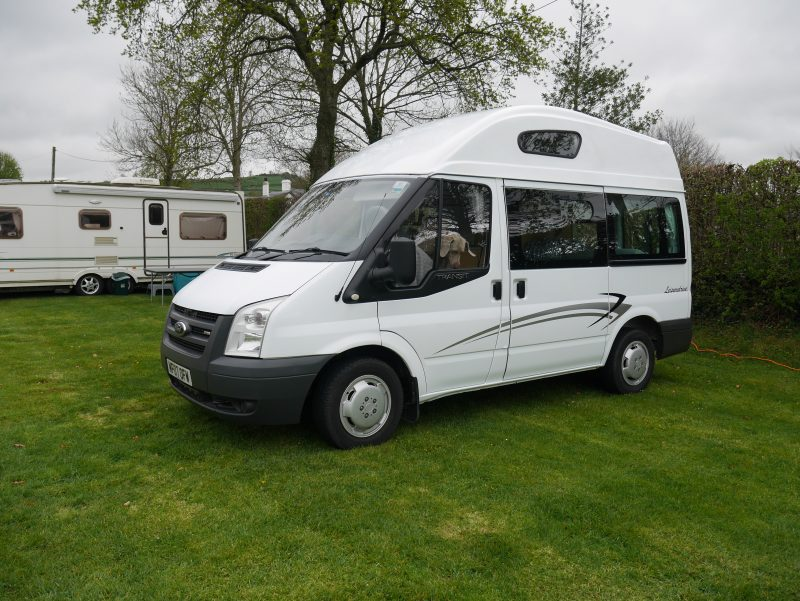 fixed high roof Transit Leisuredrive Oasis campervan is a small but spacious motorhome for all year round camping