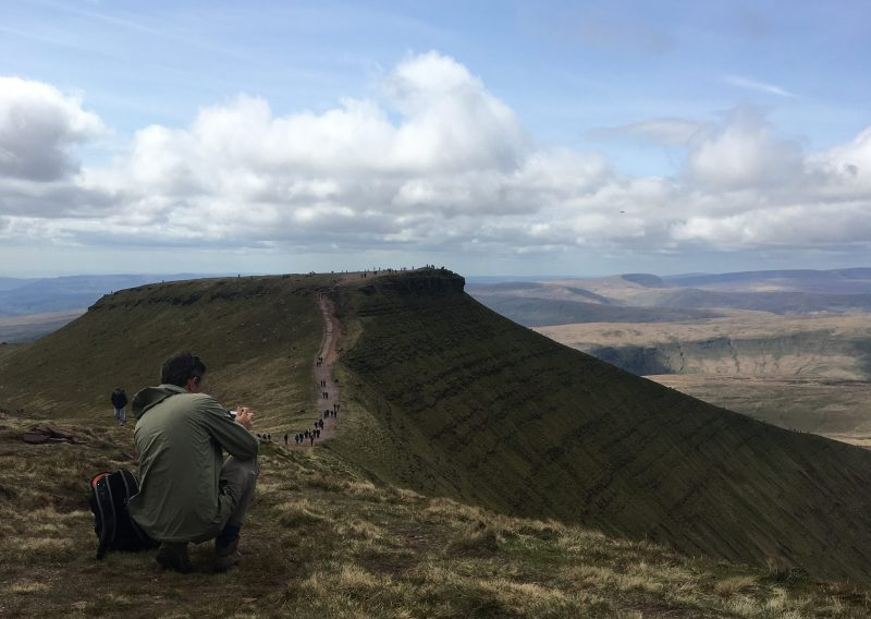 Campervan or motorhome is a great way to pick the best weather days to walk the Brecon Beacons, Wales