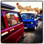 Prescilla and Cookie T25 camper vans