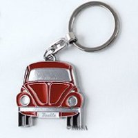 VW Collection by BRISA Key Chain - Red Beetle - Official VW Licensed Product