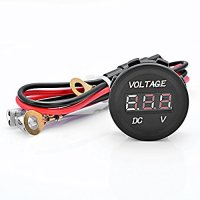 Astra Depot Waterproof DC 12V Power Outlet Digital LED Voltmeter Charger Socket + Connecting Wire For Boat Marine Carvans Auto Car Motorbike Boat ATV UTV Camper Travel Trailer