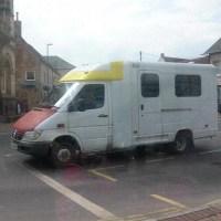 Mercedes Sprinter converted ambulance camper van Radstock