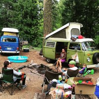 Camping with buses rules! #VW #volkswagen #westy #westphalia #VDub4Life