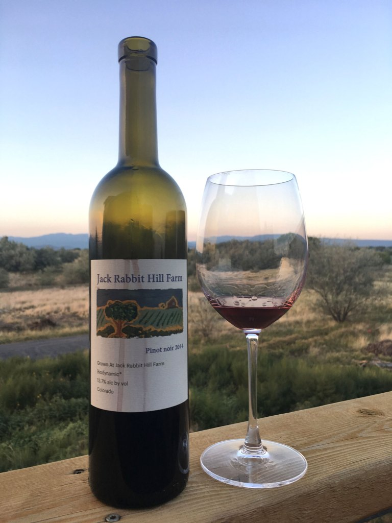 jack rabbit hill red wine bottle with red wine in a glass looking out into the dessert