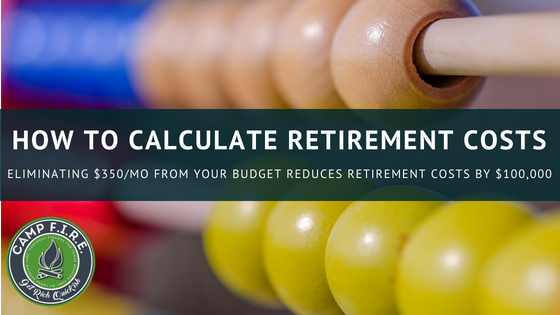 How to calculate retirement costs