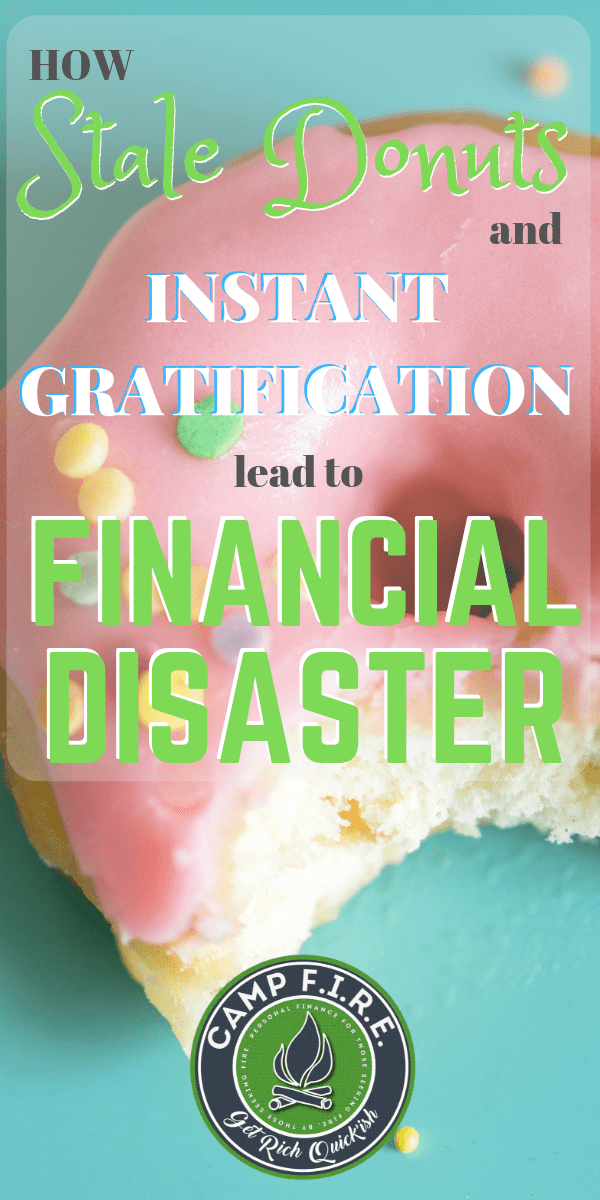 The stale #donuts test illustrates the financial disadvantages of #instantgratification. #DelayedGratification will help you achieve #financialfreedom.