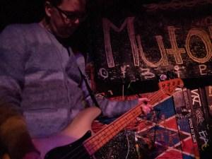 Chris Bauermeister of Mutoid Men playing at Le Voyeur (Olympia, WA), photo by Ryan Richardson