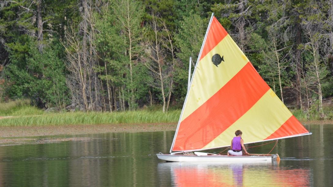 Sailing Sunfish at Camp Granite Lake