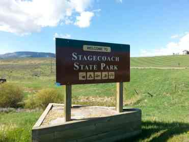Stagecoach State Park Entrance Sign