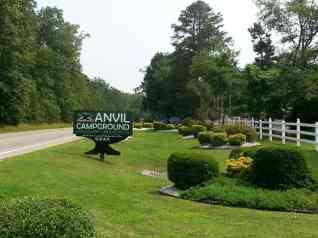 Anvil Campground in Williamsburg Virginia