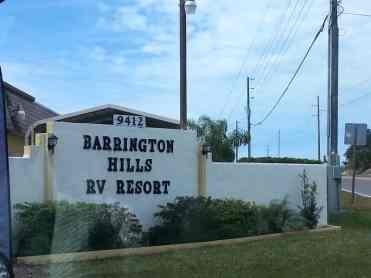 Barrington Hills RV Resort in Hudson Florida1