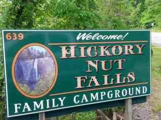 Hickory Nut Falls Family Campground in Chimney Rock North Carolina