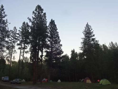 Squaredance RV tent area