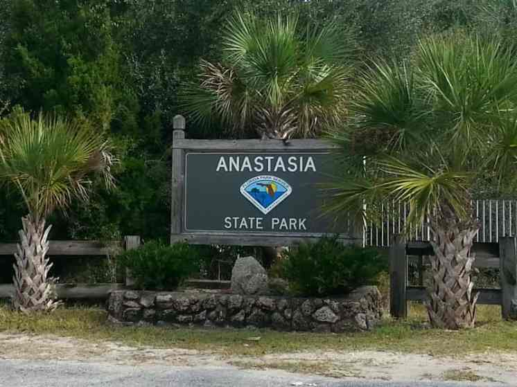 Anastasia State Park in St. Augustine Florida Sign