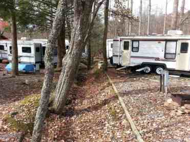 Arrow Creek Campground in Gatlinburg Tennessee Backins
