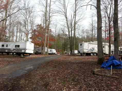 Arrow Creek Campground in Gatlinburg Tennessee Road
