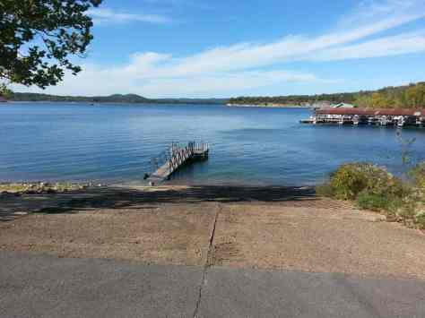 Baxter Campground in Lampre Missouri boat ramp