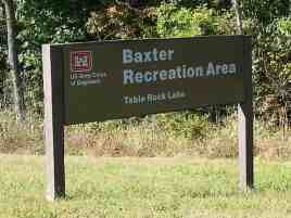 Baxter Campground in Lampre Missouri sign