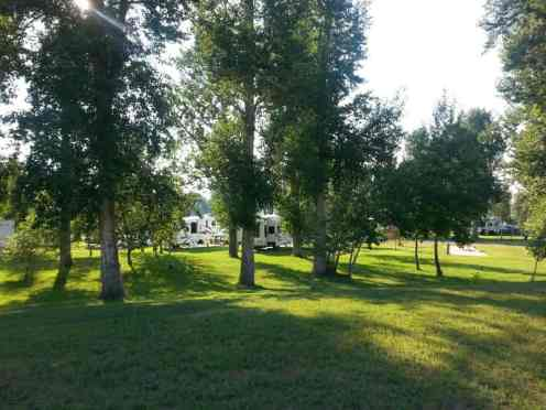 Bernie & Sharon's Riverfront RV Park in Garrison Montana Deer Lodge RV Sites with Trees