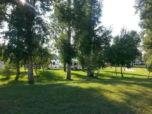 Bernie & Sharon's Riverfront RV Park in Garrison Montana Deer Lodge RV Sites with Trees