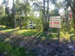 Bernie & Sharon's Riverfront RV Park in Garrison Montana Deer Lodge Entrance Sign