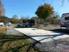 Big Meadow Family Campground in Townsend Tennessee Concrete Pull thru