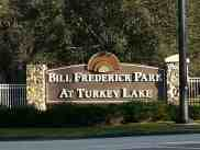Bill Frederick Park and Pool at Turkey Lake in Orlando Florida Sign