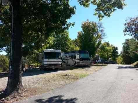 Branson View Campground in Branson Missouri Pull thrus