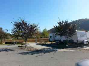 Brookside RV Resort in Pigeon Forge Tennessee Backin Site