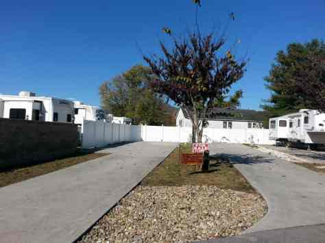 Brookside RV Resort in Pigeon Forge Tennessee Concrete Backins
