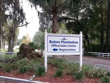 Bulow RV Resort in Flagler Beach Florida Sign