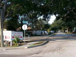Caladesi RV Park in Palm Harbor Florida Sign