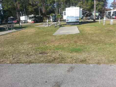 Carefree RV Resorts Daytona Beach in Port Orange Florida Backin