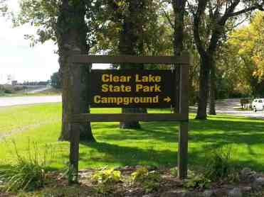 Clear Lake State Park in Clear Lake Iowa Sign